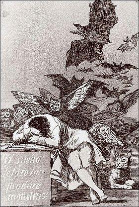 Франсиско Гойя «Сон разума рождает чудовищ»