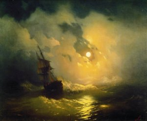 И. К. Айвазовский Буря на море ночью